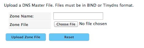 Upload DNS File Form