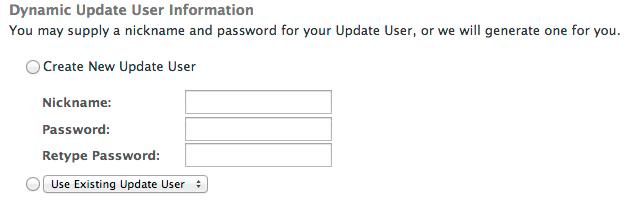 Dynamic Update user