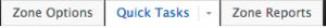 Quick tasks tab