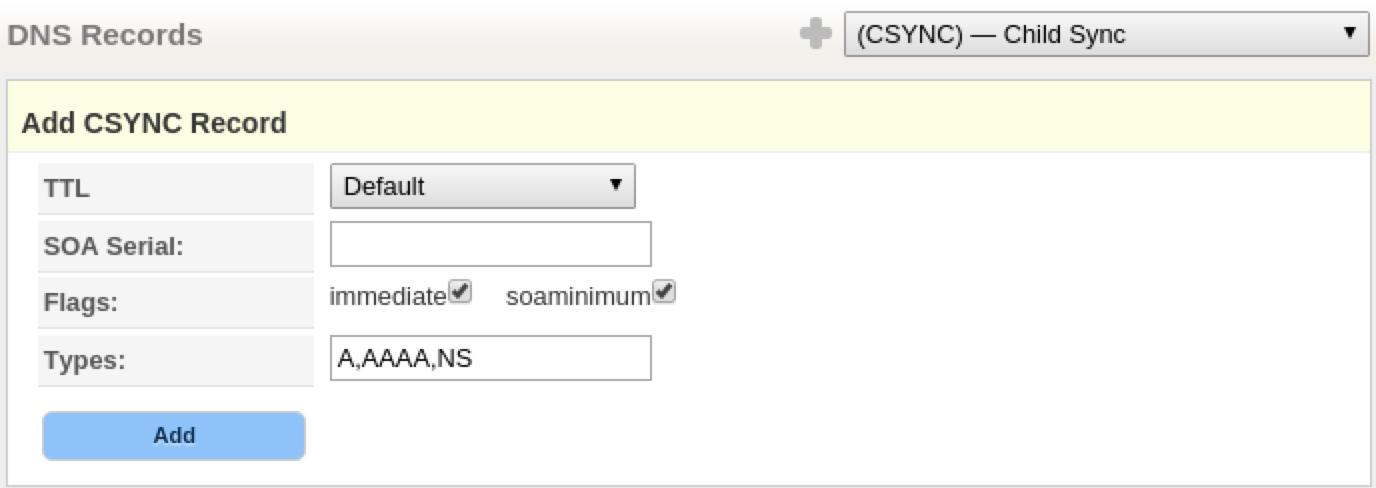 CSYNC Record fields