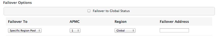 Failover options - Regional pool