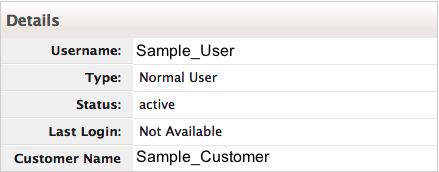 User permissions details