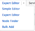 Node Finder Menu - Expert Editor