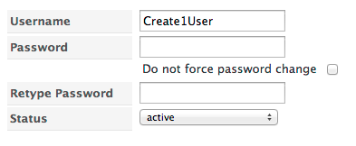 User Password Change