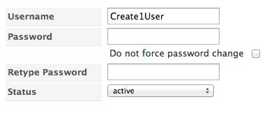 User Password Change