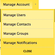 Manage Notifications Menu