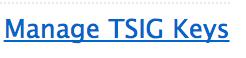 Manage TSIG Keys