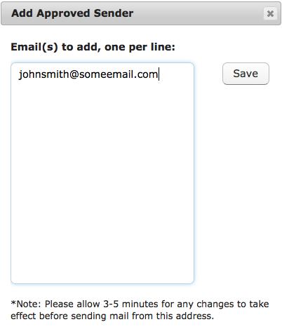 Add Email Sender