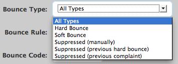 Bounce Type Drop Down