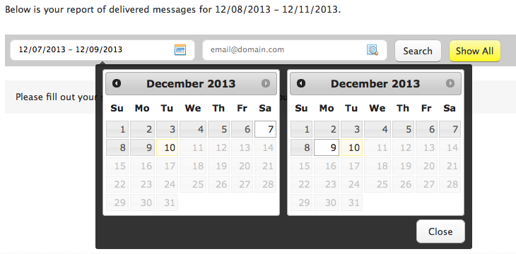 Email Report Date