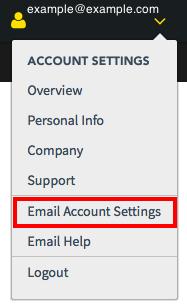Email Delivery DynID Portal Menu
