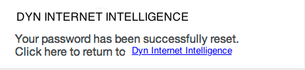 Successful Password Reset