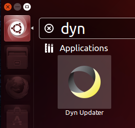 Figure 3: Launching the Dyn Updater via the Unity launcher.