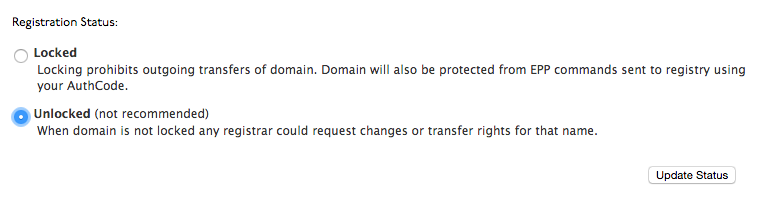 TransferDomain_ChangeStatus