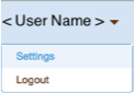User Name Menu