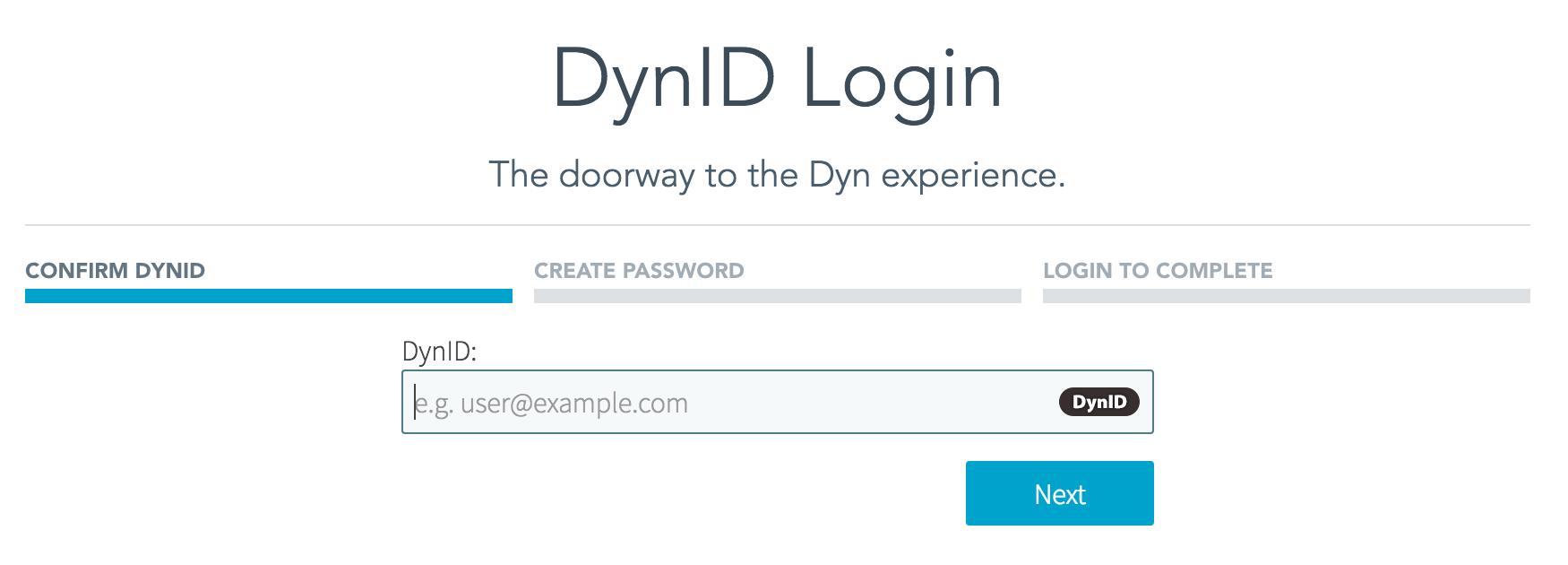 DynID Confirm Reset
