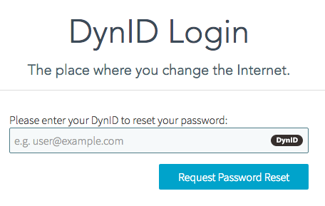 DynID Password Reset