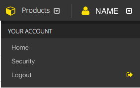 Your Account Menu