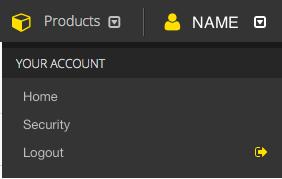 Your Account Menu