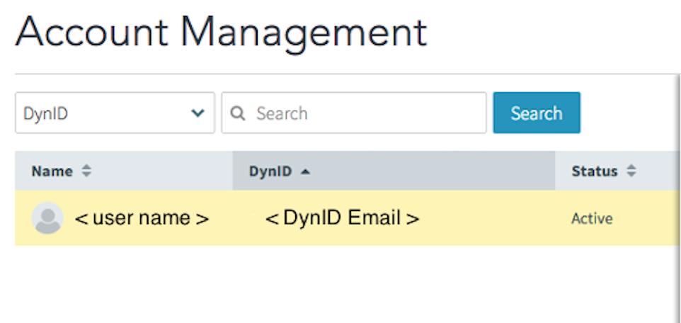 DynID Account Users