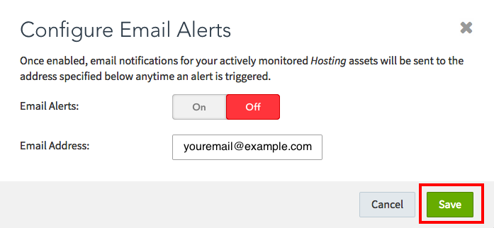 Configure Email Alerts 3