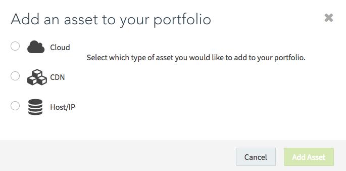 Add Asset to Portfolio