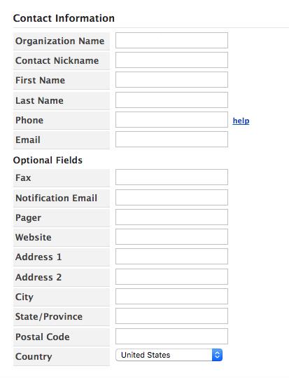 Create User Contact Info