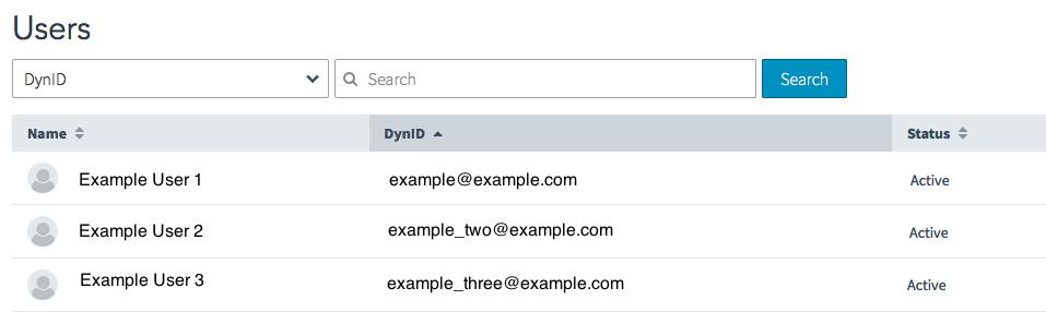 DynID Portal App Users