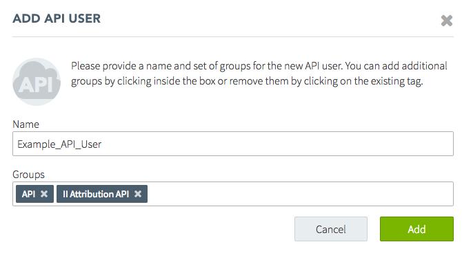 Add API User