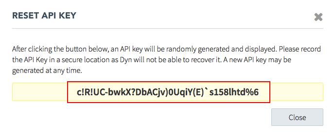 New API Key Generated