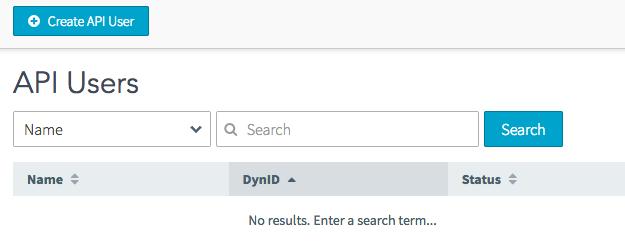 Select Create API User