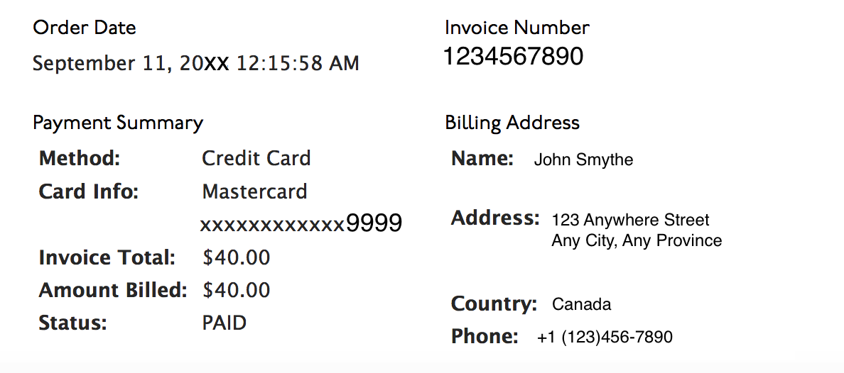 Understanding Your Accountdyncom Invoice Dyn Help Center - Invoice address