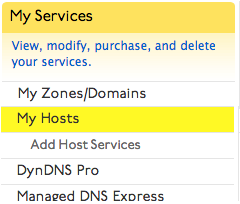 Creating a Hostname | Dyn Help Center